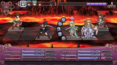 アストロメイデン - 戦闘画面